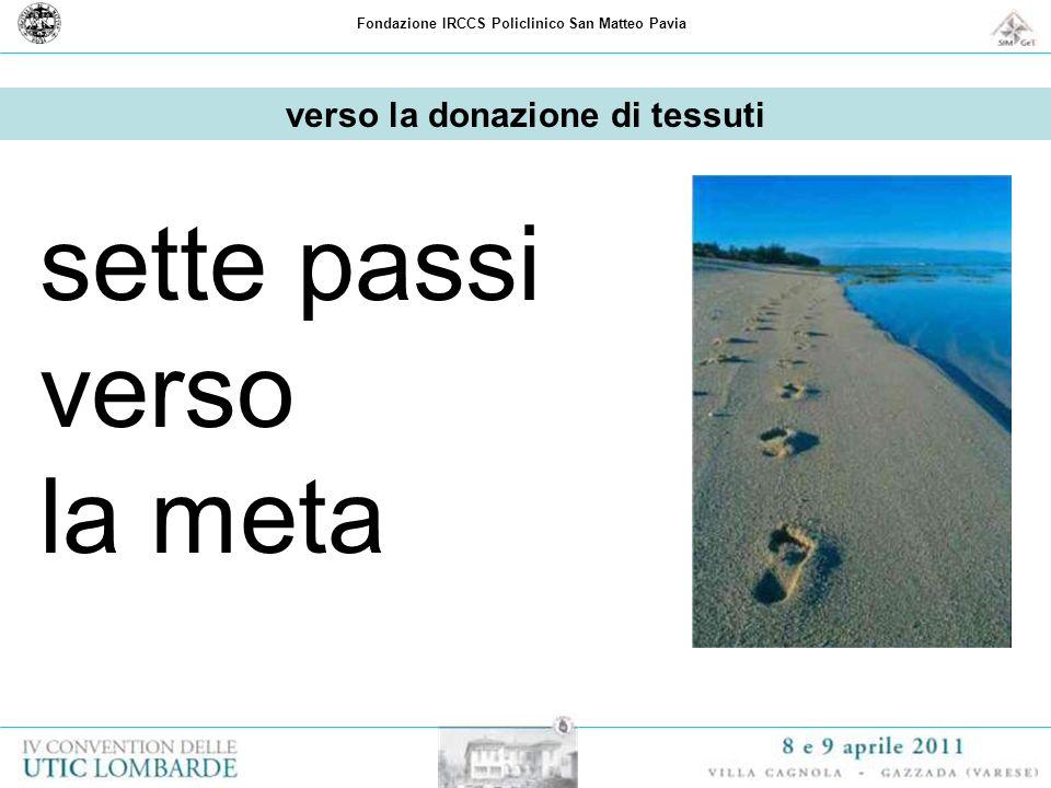 Fondazione IRCCS Policlinico San Matteo Pavia verso la donazione di tessuti sette passi verso la meta