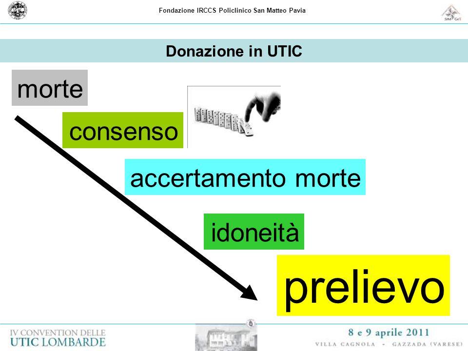 Fondazione IRCCS Policlinico San Matteo Pavia Donazione in UTIC morte consenso accertamento morte prelievo idoneità
