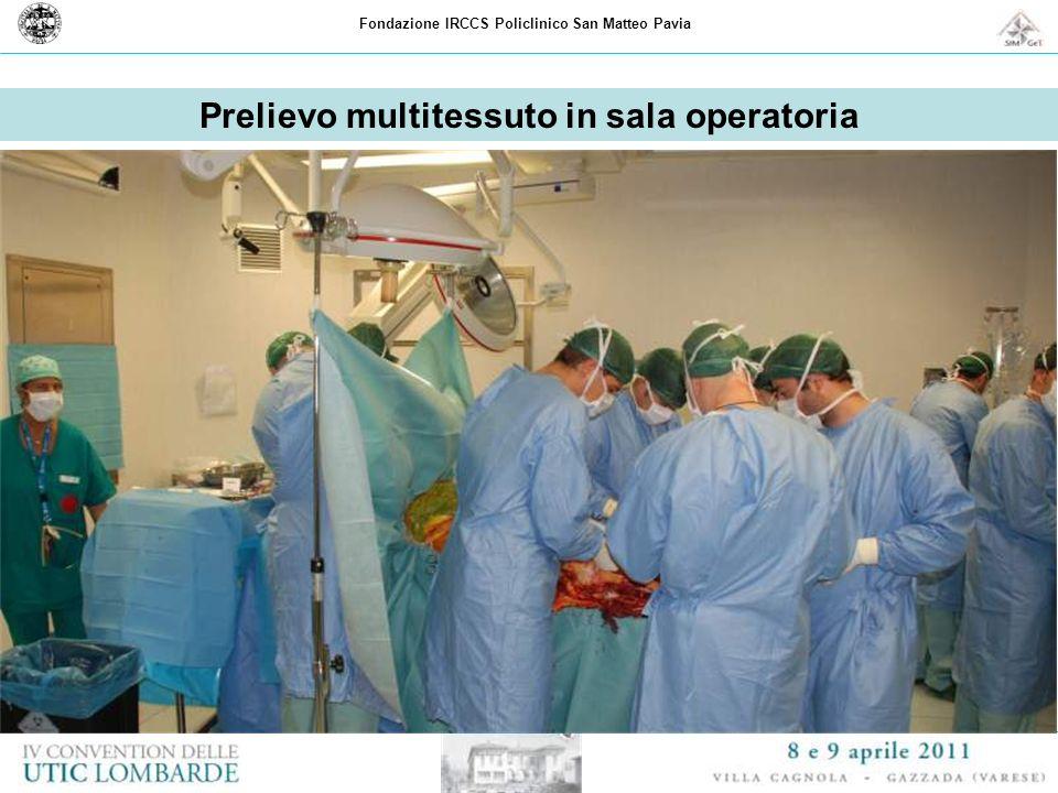Fondazione IRCCS Policlinico San Matteo Pavia Prelievo multitessuto in sala operatoria