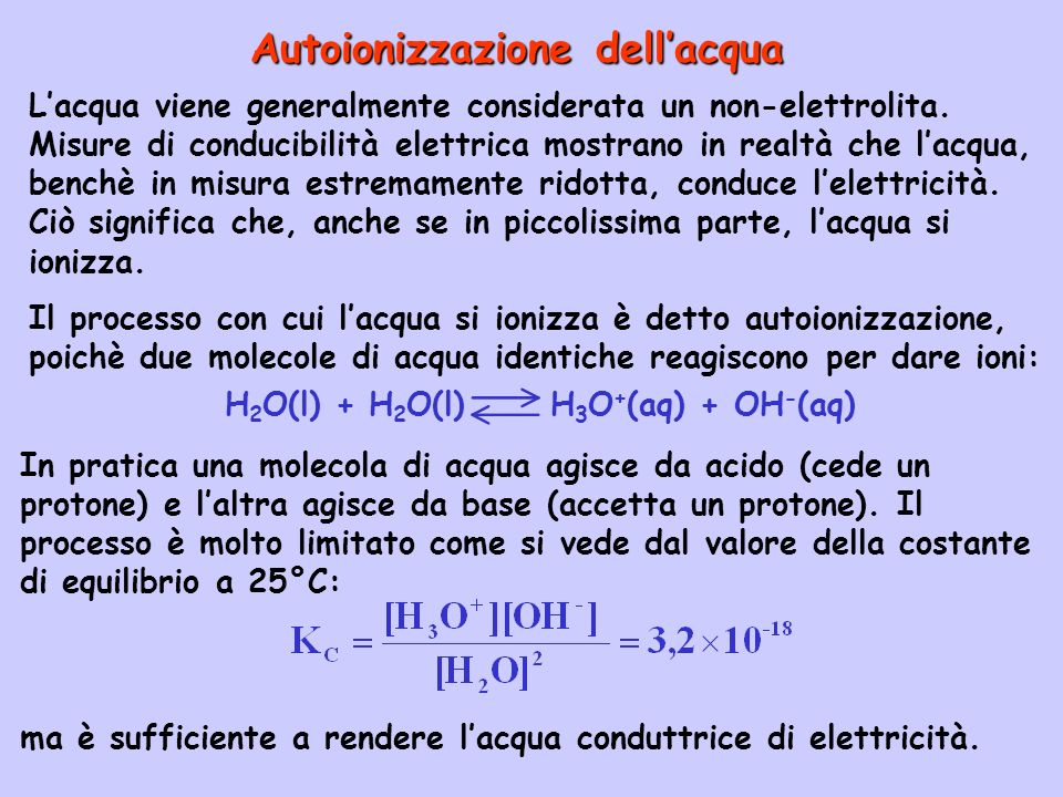Principali indicatori acido-base