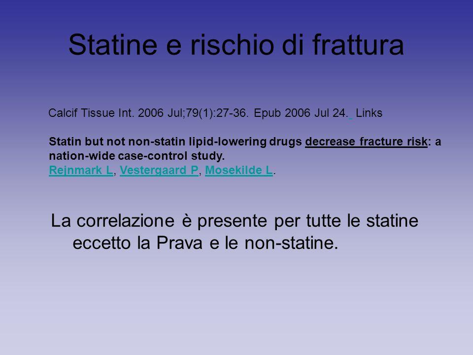 Statine e rischio di frattura Calcif Tissue Int. 2006 Jul;79(1):27-36.