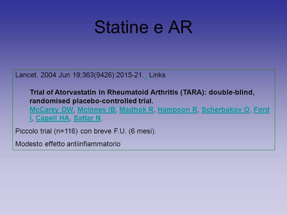 Statine e AR Lancet. 2004 Jun 19;363(9426):2015-21.