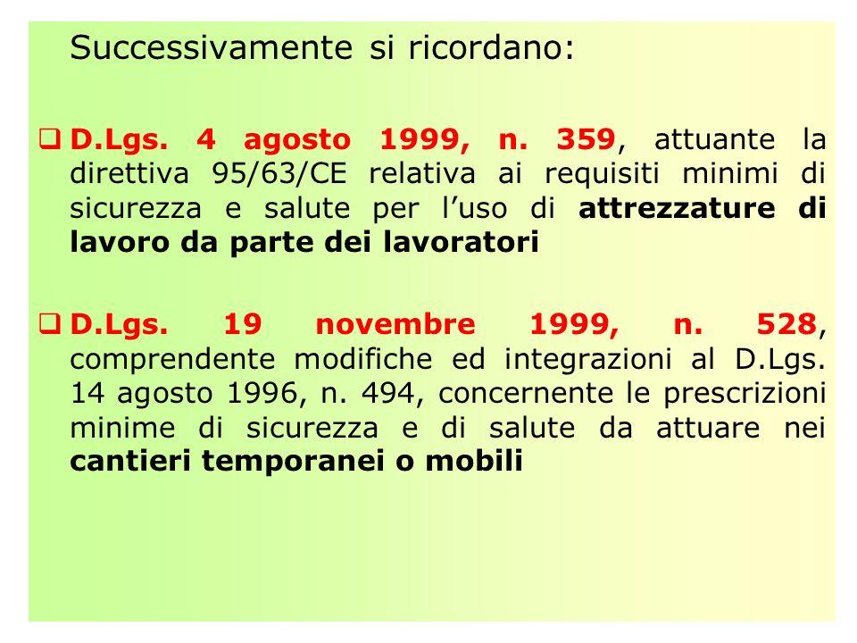 REQUISITI DI IDONEITA DELLE IMPRESE (Art.3 c. 8 del D.Lgs.