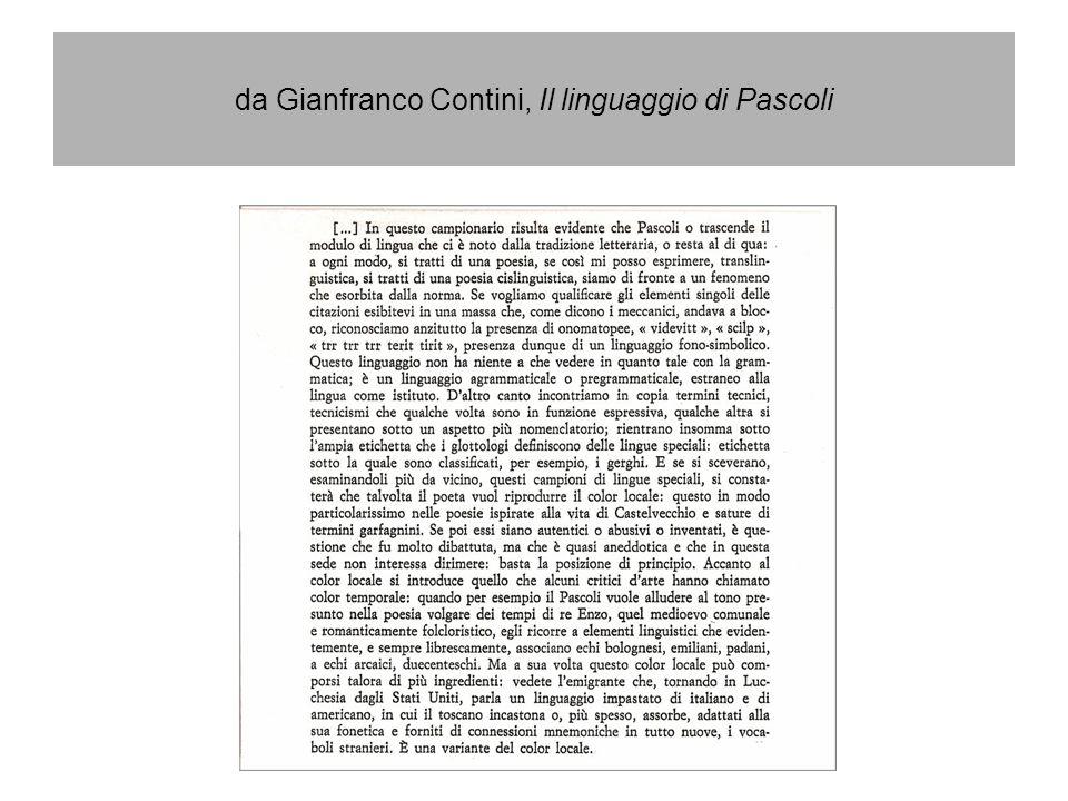 da Gianfranco Contini, Il linguaggio di Pascoli