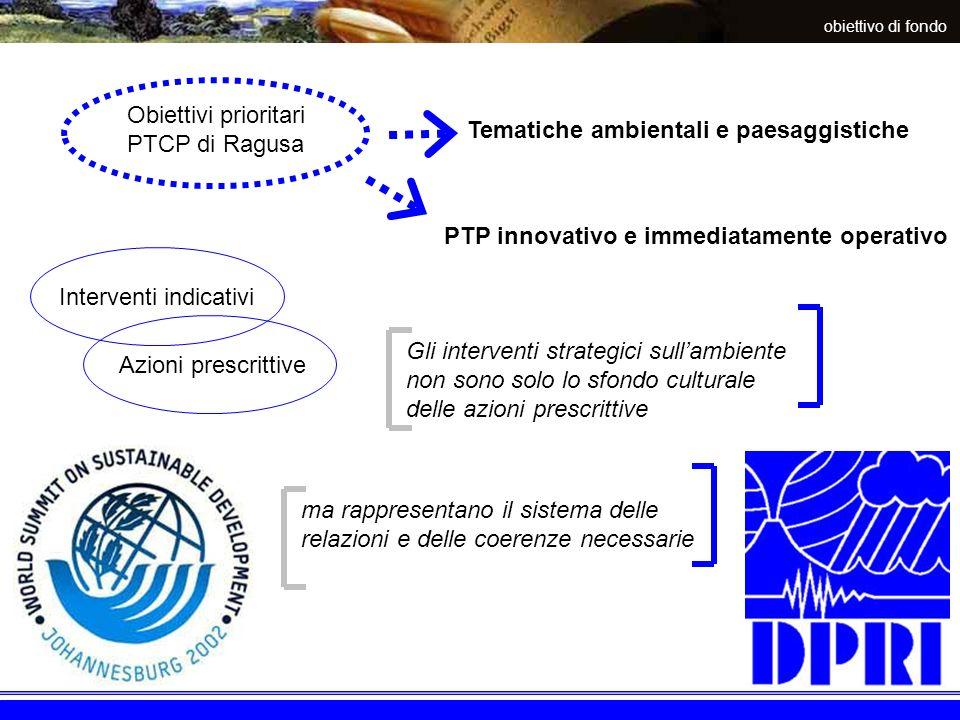 interventi progettuali Interventi progettuali del PTP programmi di settore piani darea progetti speciali Schedatura di azioni progettuali Riguardano argomenti strategici in relazione alla capacità di generare sinergie
