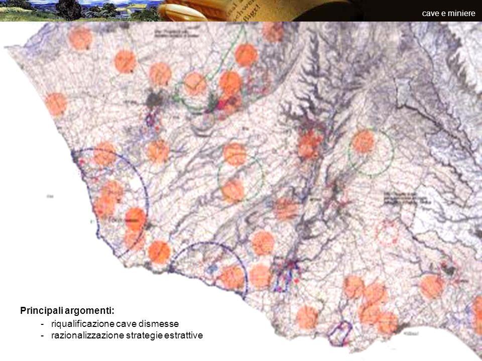 inquinamenti e rifiuti Principali tematiche -piattaforma logistica -depuratori -discariche -sistemi di monitoraggio