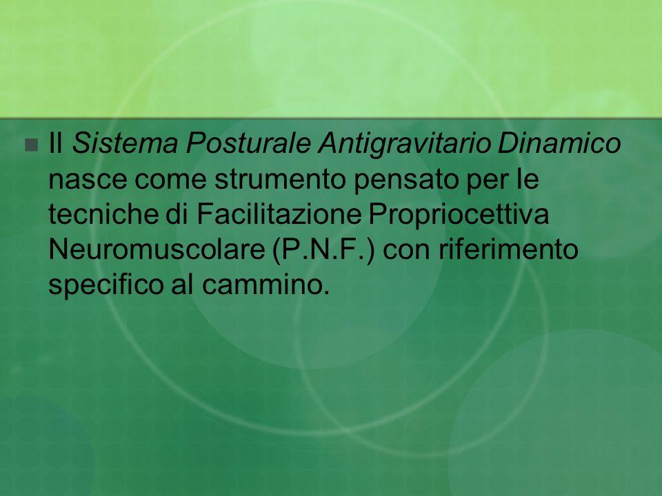 Il Sistema Posturale Antigravitario Dinamico nasce come strumento pensato per le tecniche di Facilitazione Propriocettiva Neuromuscolare (P.N.F.) con