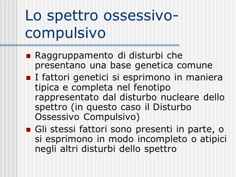 Disturbo ossessivo- compulsivo Alcuni sintomi hanno gravi implicazioni sul piano dermatologico Alcuni esempi: - lavarsi ripetutamente le mani - mordic