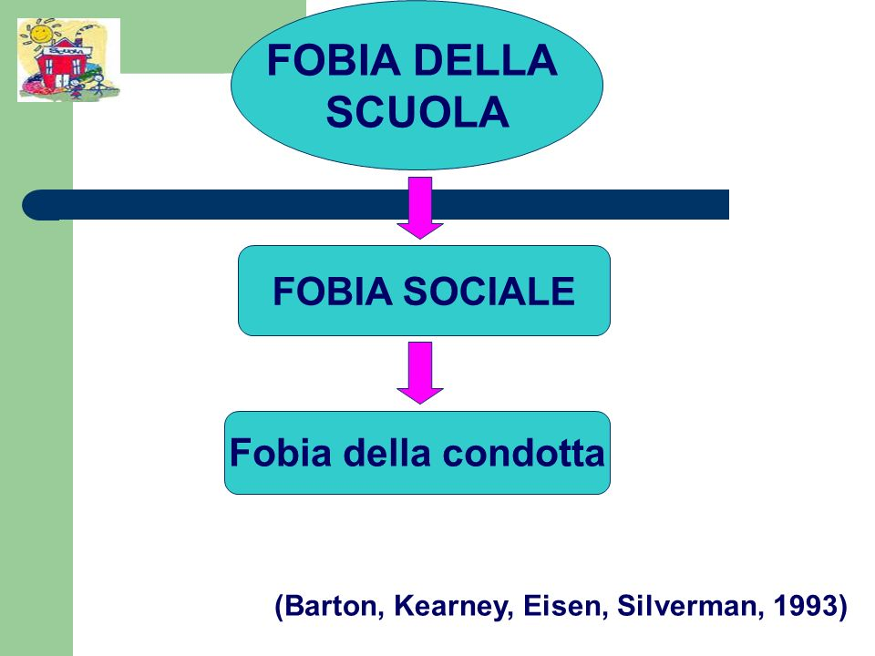 FOBIA DELLA SCUOLA FOBIA SOCIALE Fobia della condotta (Barton, Kearney, Eisen, Silverman, 1993)