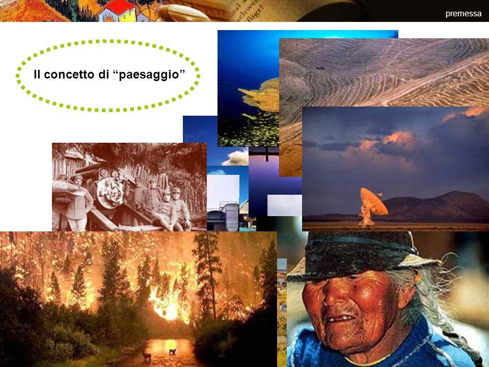 Il concetto di paesaggio premessa