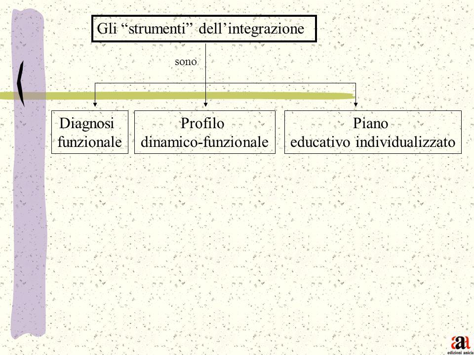 Gli strumenti dellintegrazione Diagnosi funzionale Profilo dinamico-funzionale Piano educativo individualizzato sono