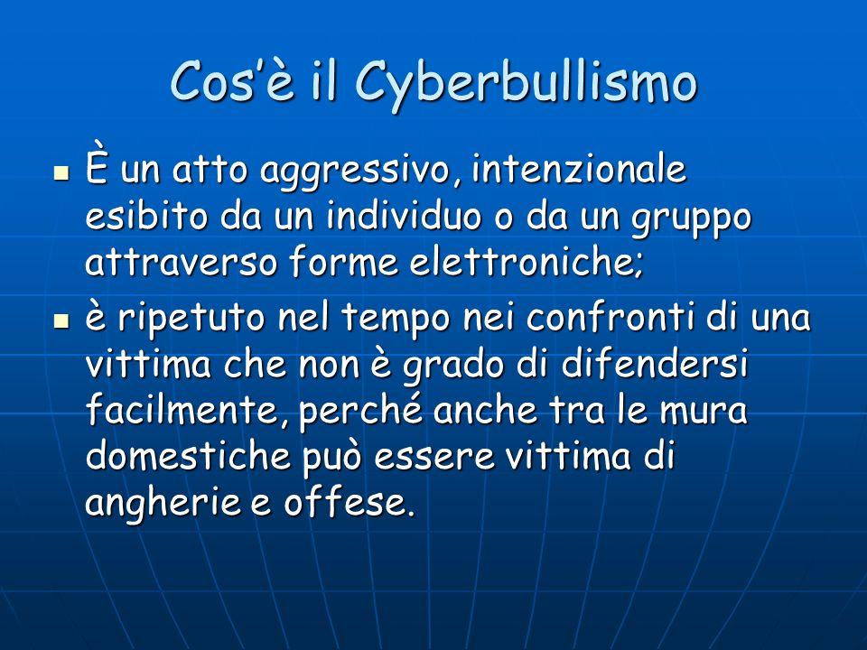 Cosè il Cyberbullismo È un atto aggressivo, intenzionale esibito da un individuo o da un gruppo attraverso forme elettroniche; È un atto aggressivo, i