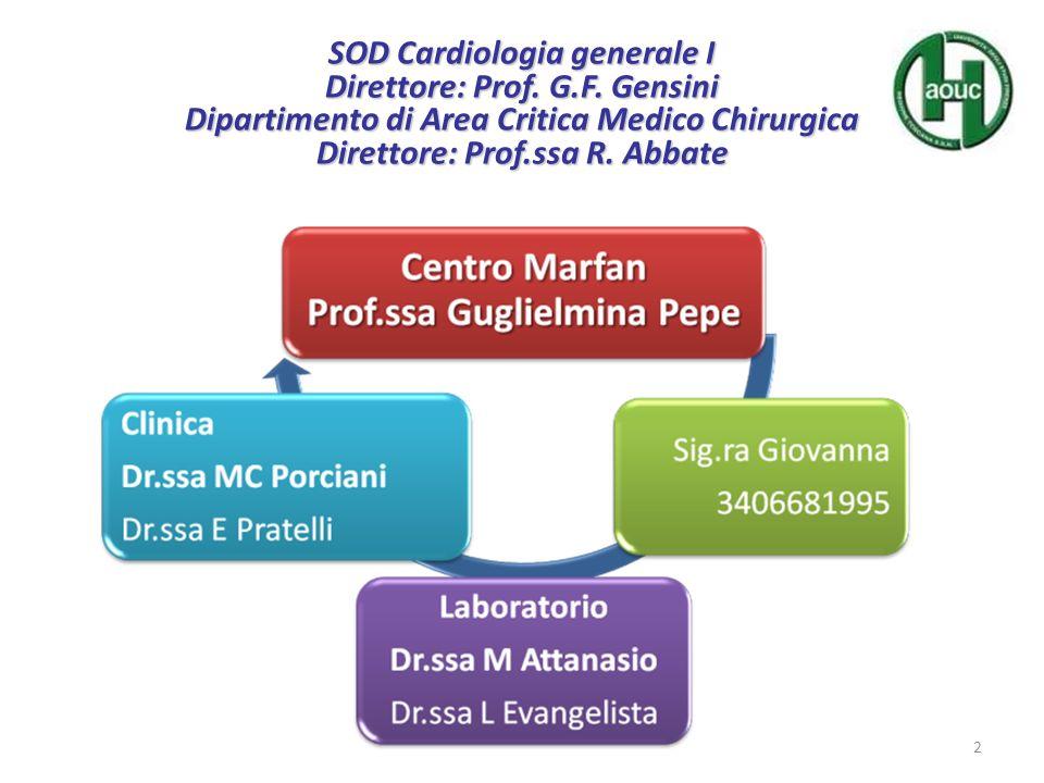 SOD Cardiologia generale I Direttore: Prof. G.F.