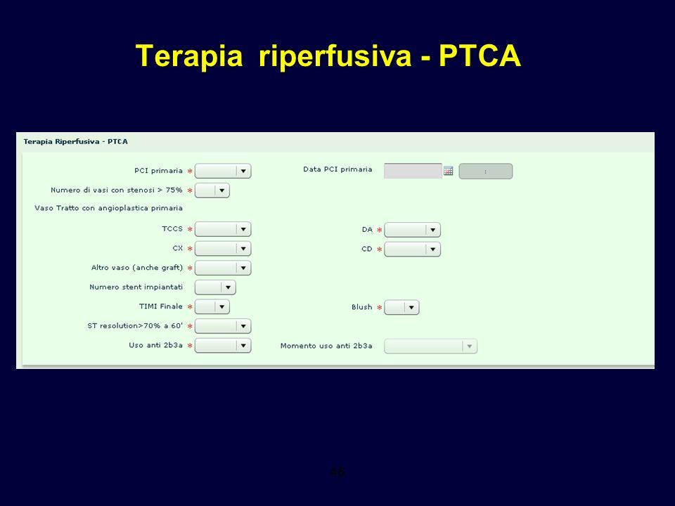 Terapia riperfusiva - PTCA 46