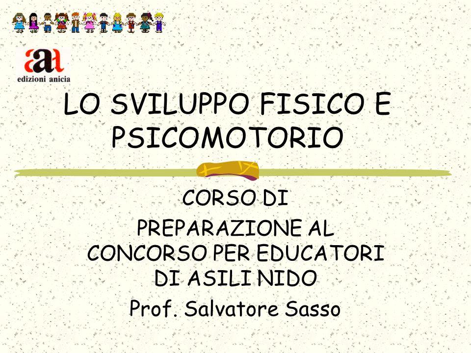 LO SVILUPPO FISICO E PSICOMOTORIO CORSO DI PREPARAZIONE AL CONCORSO PER EDUCATORI DI ASILI NIDO Prof.
