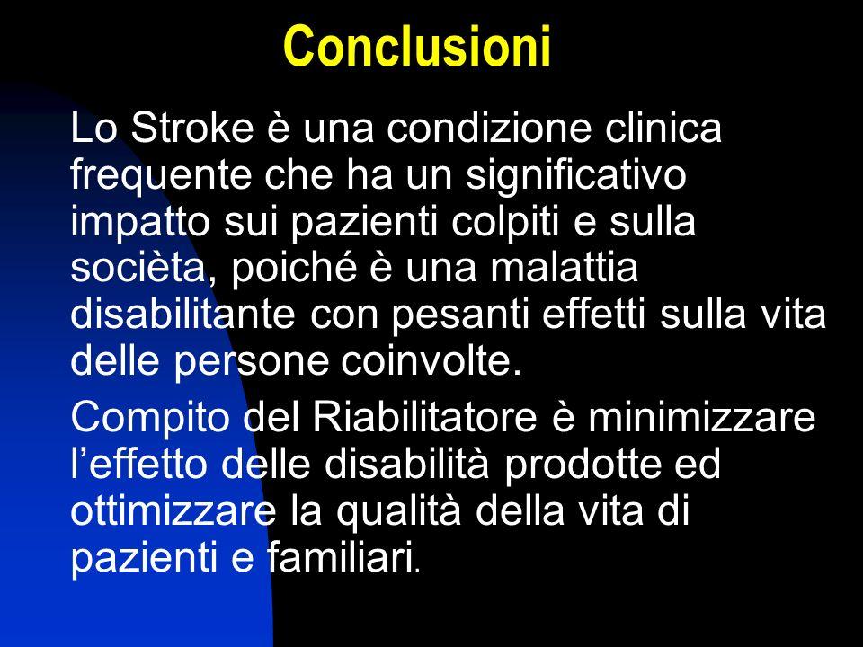 Lo Stroke è una condizione clinica frequente che ha un significativo impatto sui pazienti colpiti e sulla socièta, poiché è una malattia disabilitante