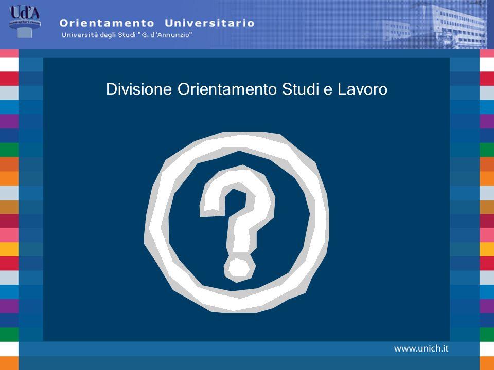 Divisione Orientamento Studi e Lavoro