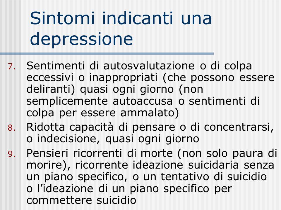 Sintomi indicanti una depressione 3.