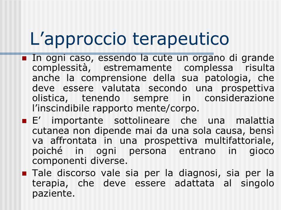 Lapproccio terapeutico Lapproccio terapeutico risulta particolarmente complesso e, talvolta, rischioso, data la difficoltà del paziente a riconoscere ed accettare una definizione psichica della propria malattia.
