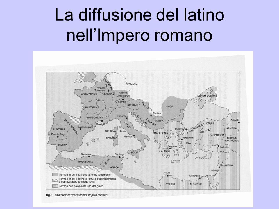 La diffusione del latino nellImpero romano