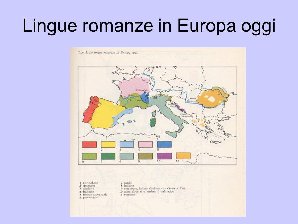 Lingue romanze in Europa oggi