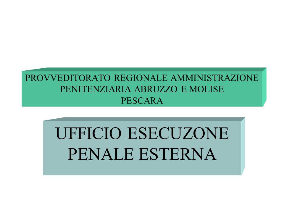 PROVVEDITORATO REGIONALE AMMINISTRAZIONE PENITENZIARIA ABRUZZO E MOLISE PESCARA UFFICIO ESECUZONE PENALE ESTERNA