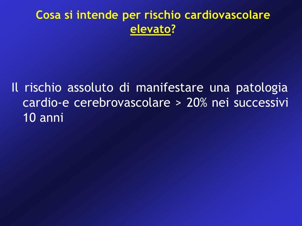 Cosa si intende per rischio cardiovascolare elevato.