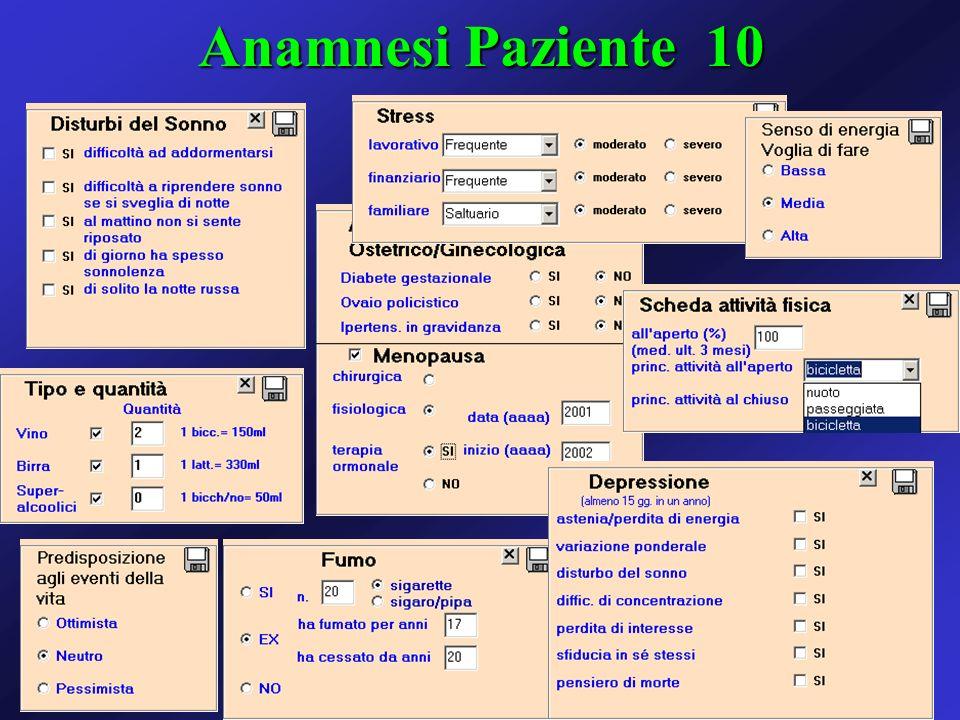 Anamnesi Paziente 10