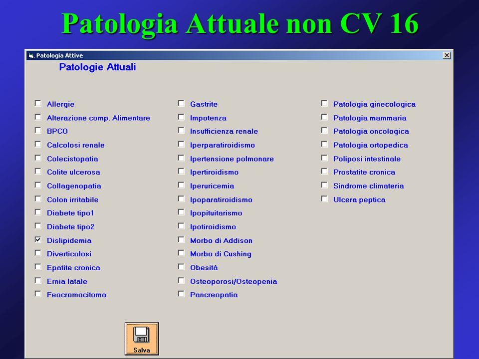 Patologia Attuale non CV 16