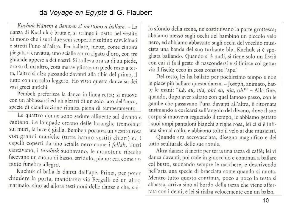 10 da Voyage en Egypte di G. Flaubert