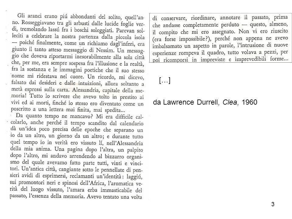 3 da Lawrence Durrell, Clea, 1960 […]