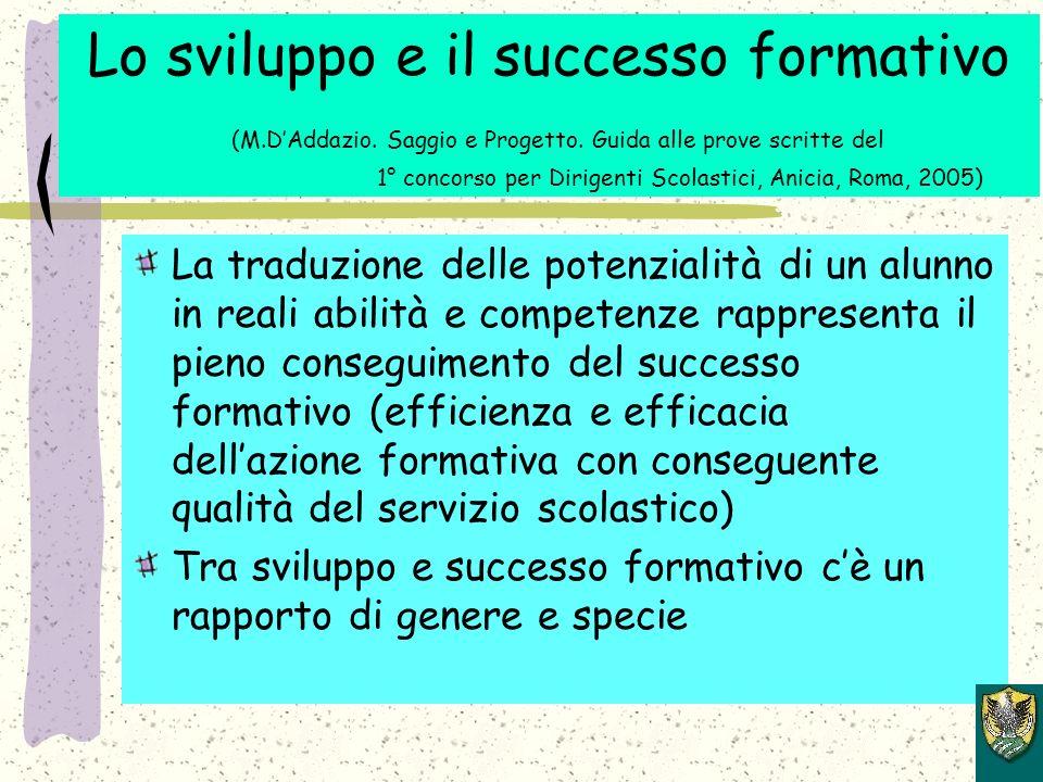 Lo sviluppo e il successo formativo (M.DAddazio.Saggio e Progetto.