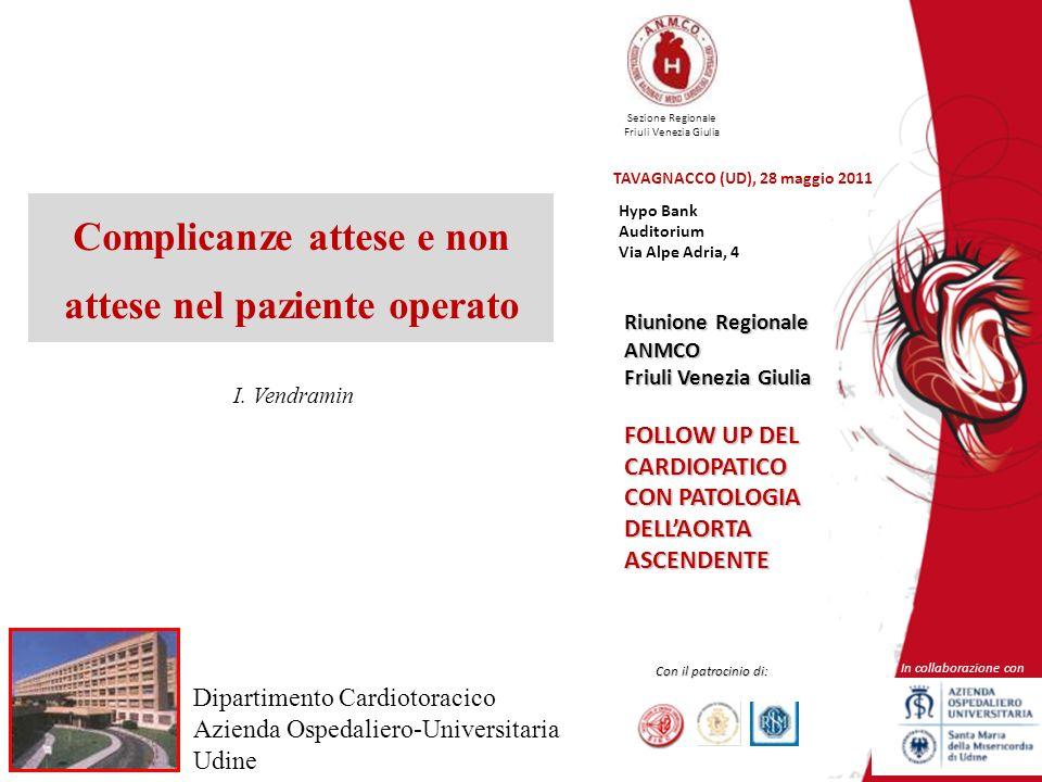 Sezione Regionale Friuli Venezia Giulia In collaborazione con Con il patrocinio di: Riunione Regionale ANMCO Friuli Venezia Giulia FOLLOW UP DEL CARDI