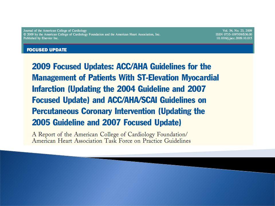 NEJM 2005 Clarity TIMI 28 (Fibrinolisi) -36% JAMA 2005 PCI- Clarity TIMI 28 -46%