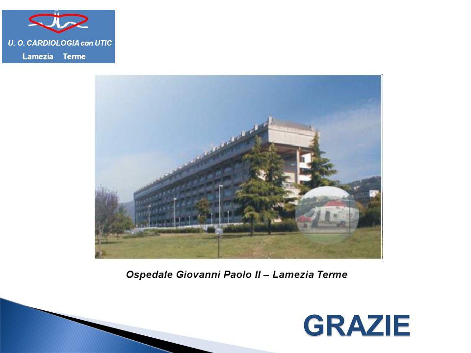 GRAZIE Ospedale Giovanni Paolo II – Lamezia Terme Lamezia Terme U. O. CARDIOLOGIA con UTIC
