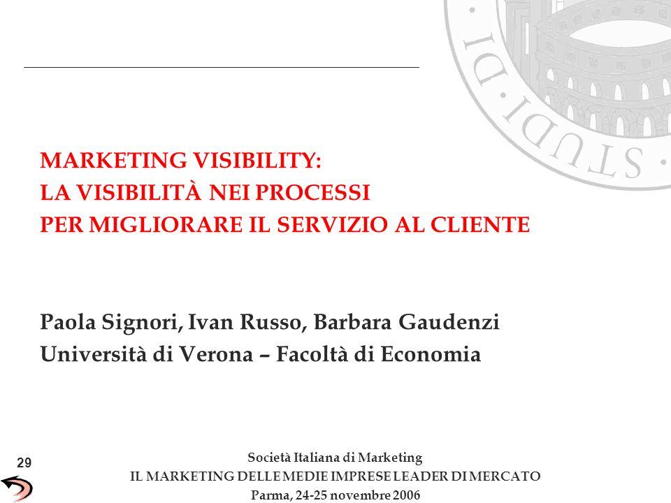 29 Unisys Confidential MARKETING VISIBILITY: LA VISIBILITÀ NEI PROCESSI PER MIGLIORARE IL SERVIZIO AL CLIENTE Paola Signori, Ivan Russo, Barbara Gaude