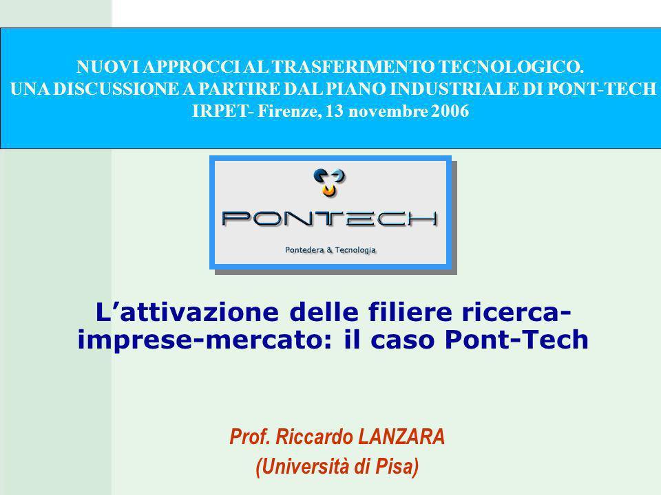 Lattivazione delle filiere ricerca- imprese-mercato: il caso Pont-Tech Prof.
