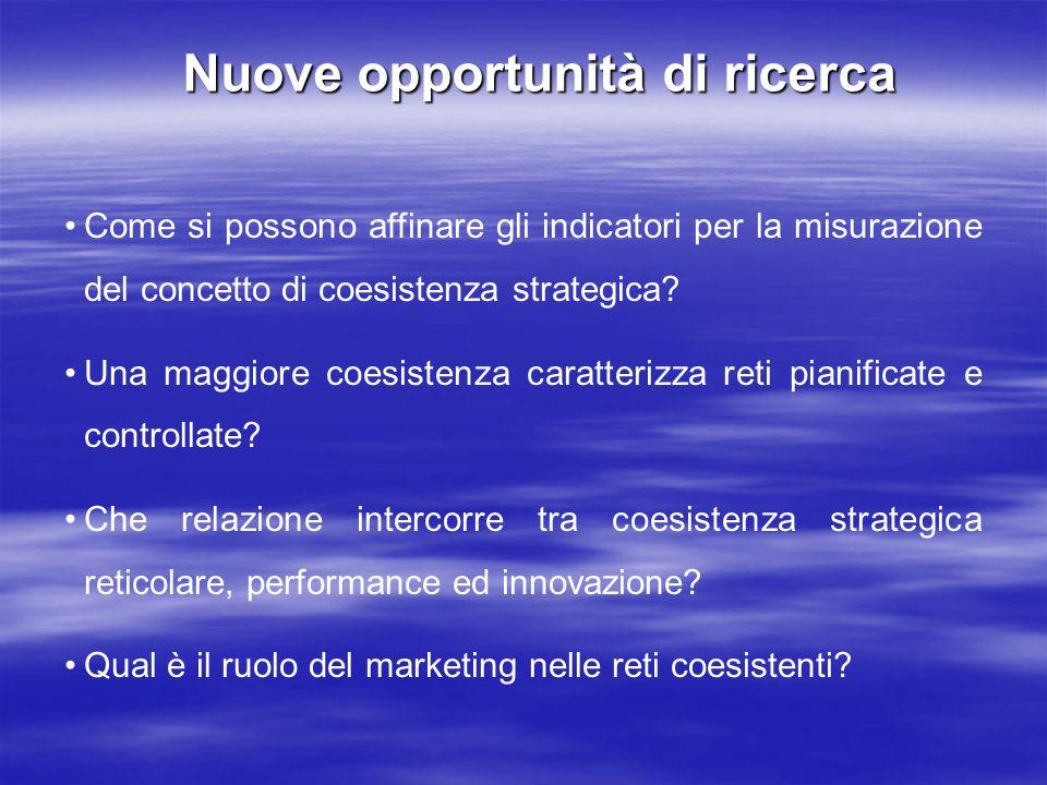 Nuove opportunità di ricerca Nuove opportunità di ricerca Come si possono affinare gli indicatori per la misurazione del concetto di coesistenza strat