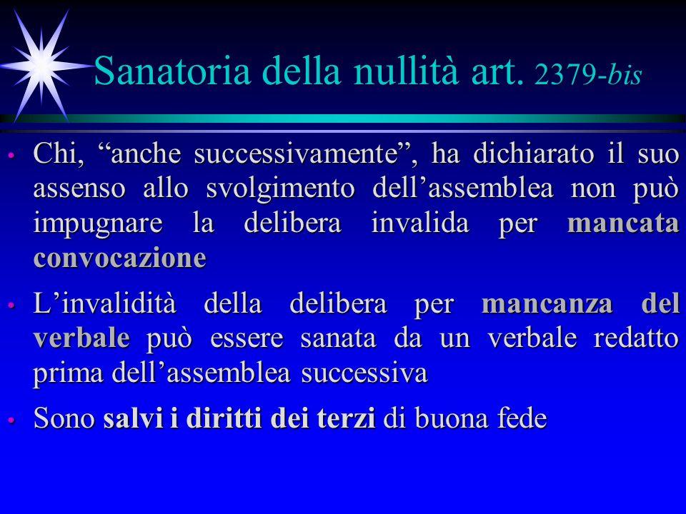 Sanatoria della nullità art.