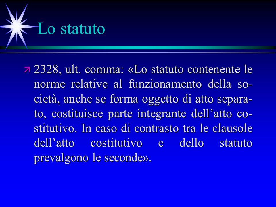 Lo statuto ä 2328, ult.