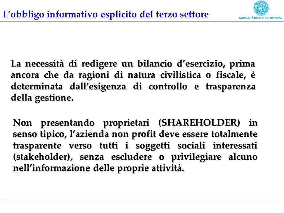 Sistema di rendicontazione in grado evidenziare le esternalità prodotte, ossia i benefici sociali derivanti dallattività dellimpresa sociale.