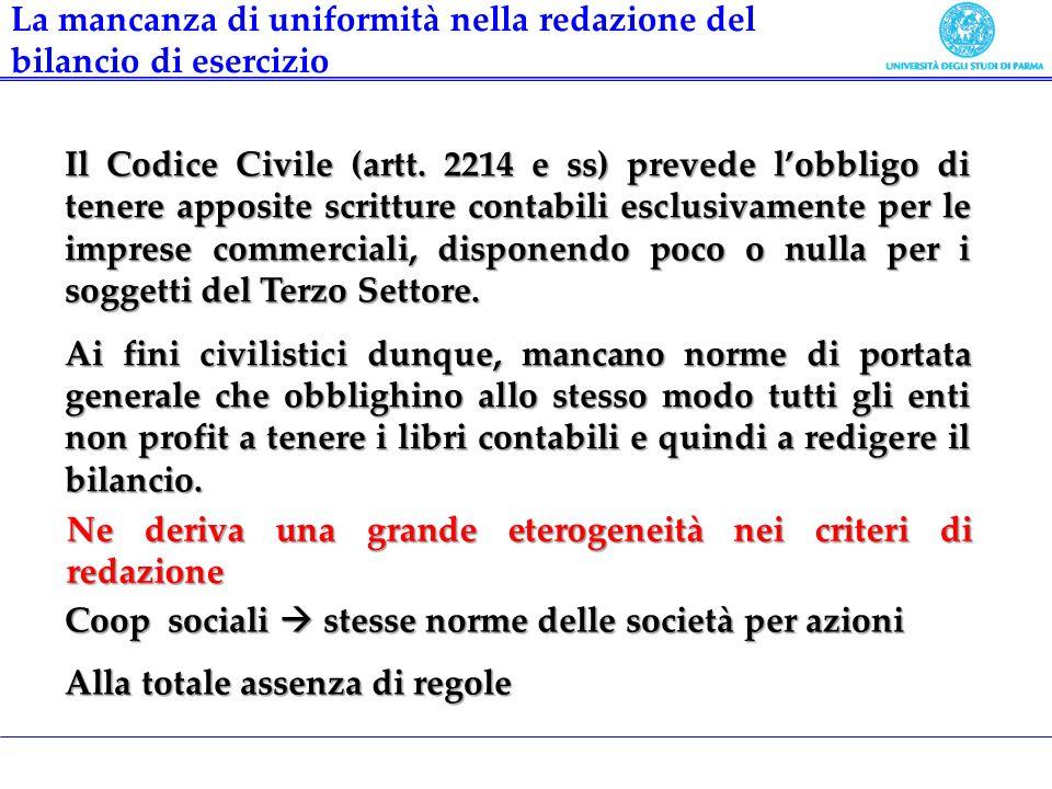 Il Codice Civile (artt. 2214 e ss) prevede lobbligo di tenere apposite scritture contabili esclusivamente per le imprese commerciali, disponendo poco