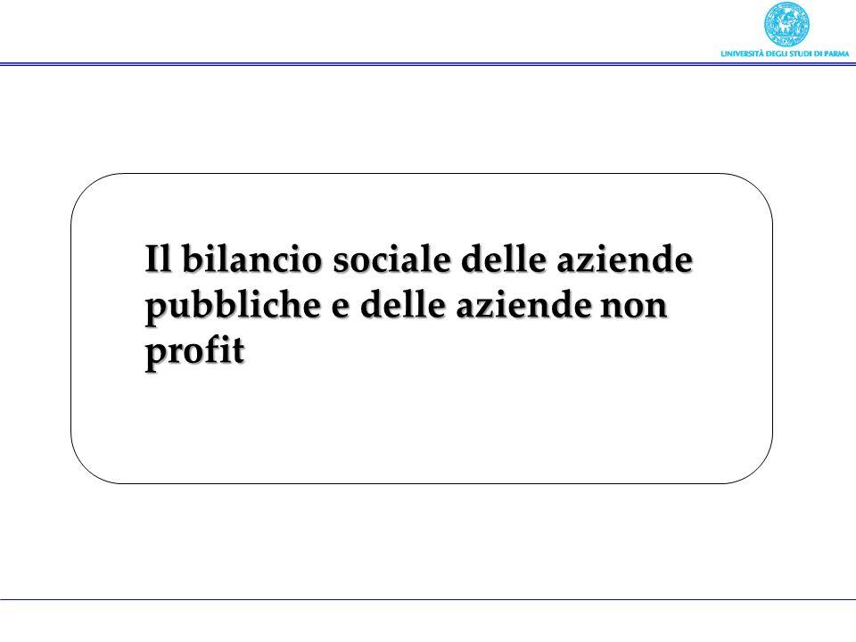 Il bilancio sociale delle aziende pubbliche e delle aziende non profit
