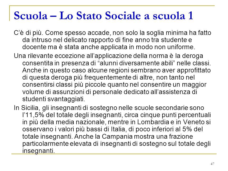 47 Scuola – Lo Stato Sociale a scuola 1 Cè di più.