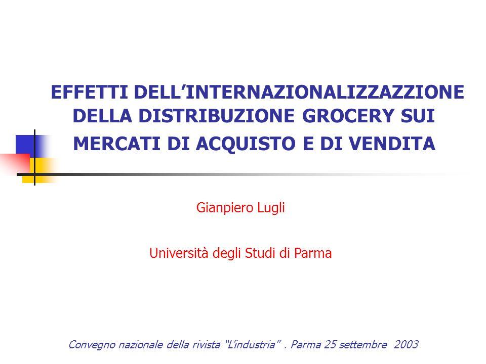 AGENDA Specificità dello sviluppo internazionale delle insegne nei due comparti Obiettivi della internazionalizzazione della distribuzione grocery Internazinalizzazione della distribuzione e competizione nei mercati nazionali Internazionalizzazione degli acquisti