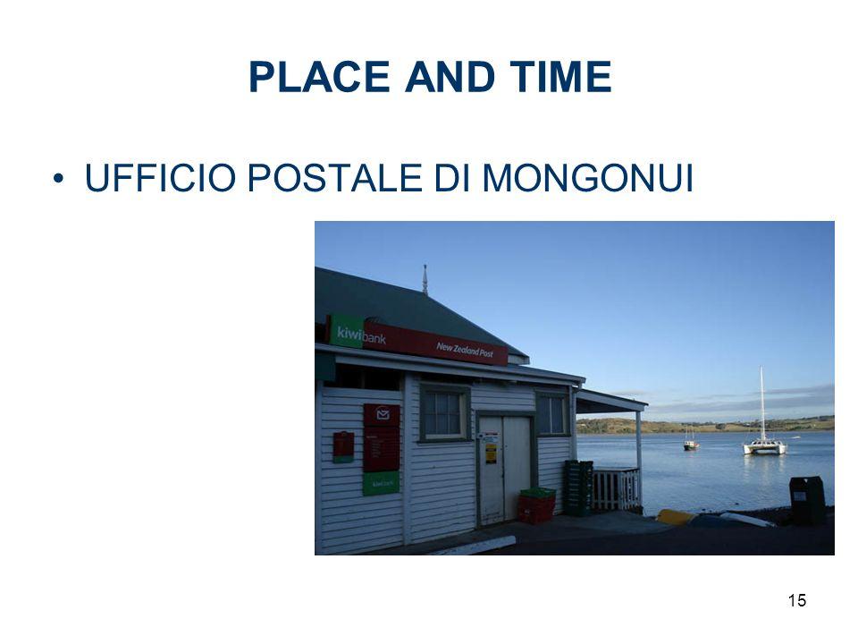 15 PLACE AND TIME UFFICIO POSTALE DI MONGONUI