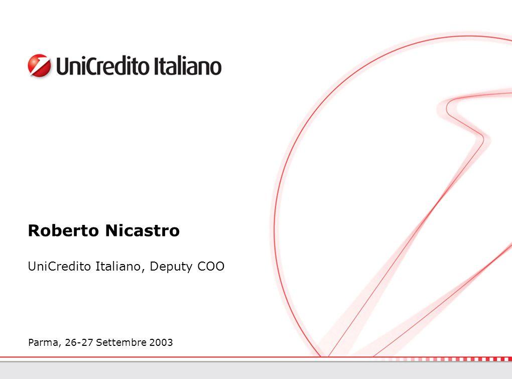 2 2 AGENDA La Nuova Europa verso lUE Opportunità e sfide per il settore Settore Bancario Il caso UniCredito Italiano