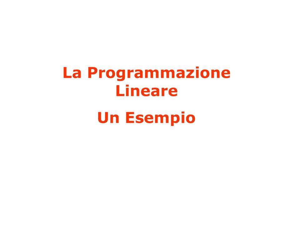 La Programmazione Lineare Un Esempio