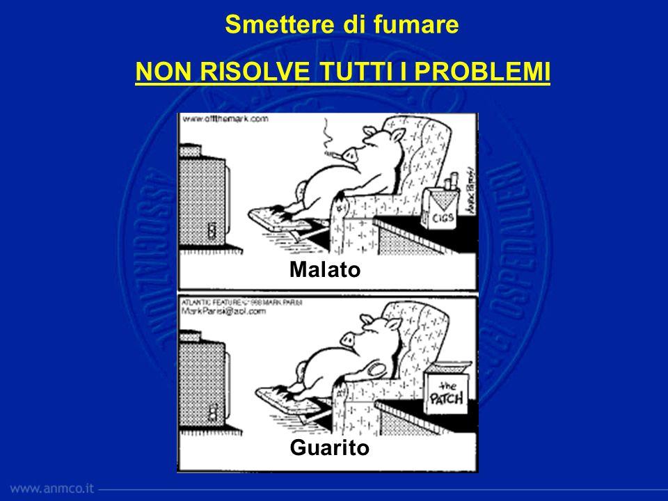 Malato Guarito Smettere di fumare NON RISOLVE TUTTI I PROBLEMI