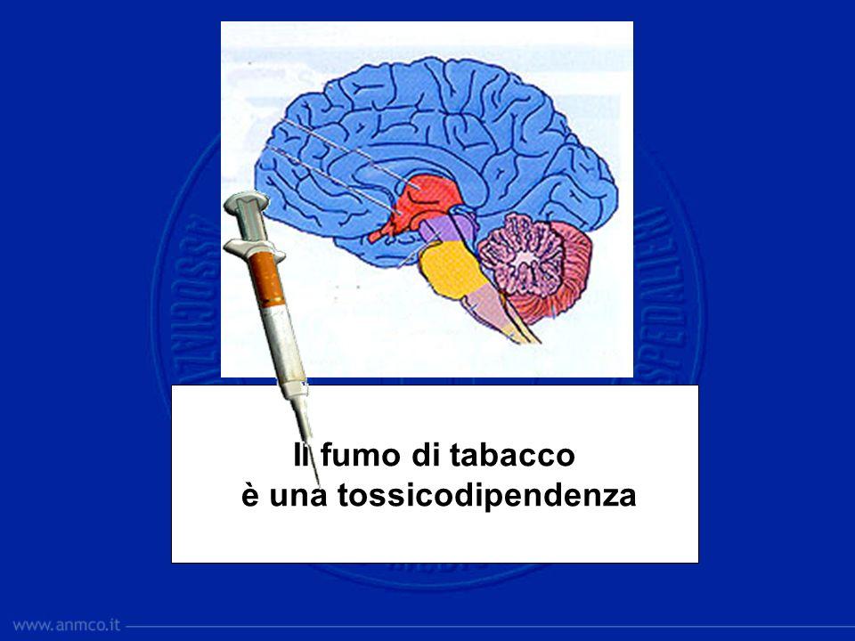 Il fumo di tabacco è una tossicodipendenza